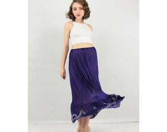 Vintage slip / 1920s rayon jersey maxi petticoat / Deco era underskirt / Art deco era S M