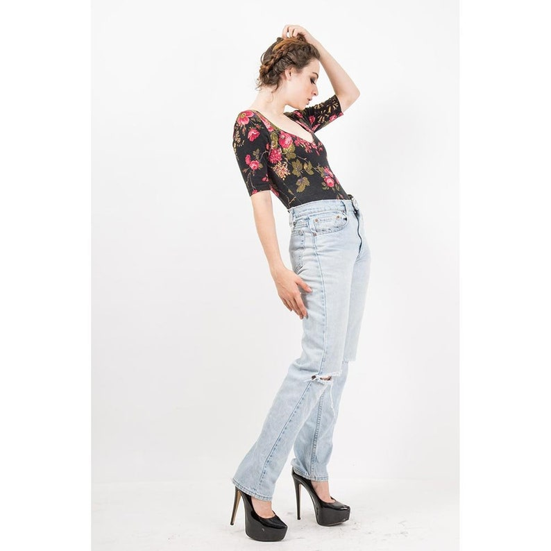 1b5e7263c8b7 Vintage Betsey Johnson / 1980s punk label dark floral rose | Etsy