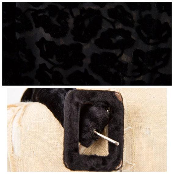 1930s dress / Vintage 30s Black silk velvet burno… - image 8