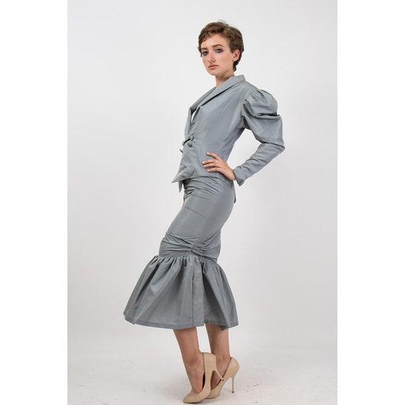 Vintage Norma Kamali / 1980s 2 piece skirted suit… - image 2