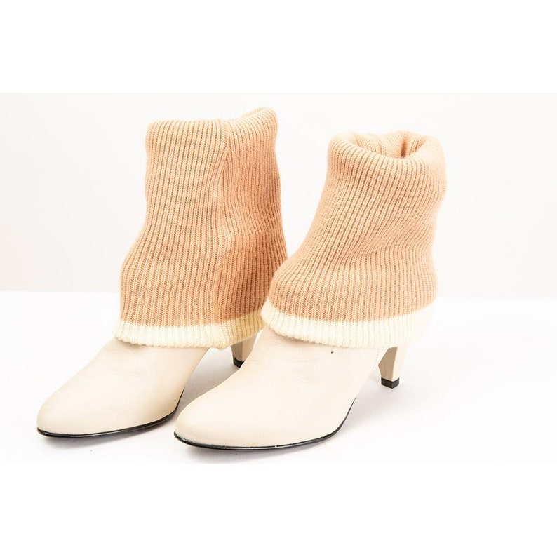 1980s 9 West ankle sock boots / Vintage pixie boots with image 0