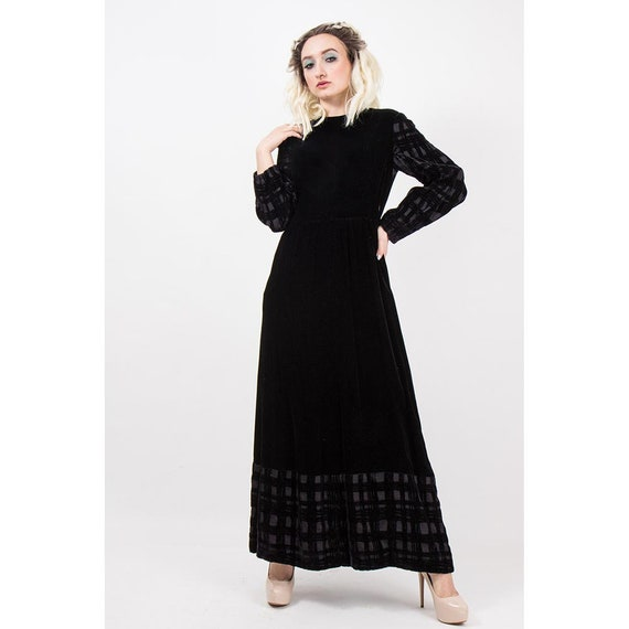 Vintage GIVENCHY / 1960s 1970s Maxi dress / Eveni… - image 5