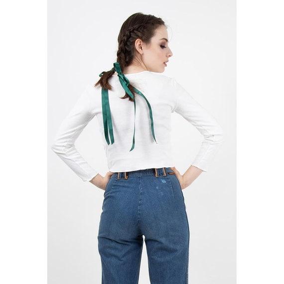 Vintage Landlubber jeans / 1970s high waist bell … - image 3