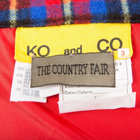 Vintage Ko and Co / 1980s plaid wool blanket frin… - image 9