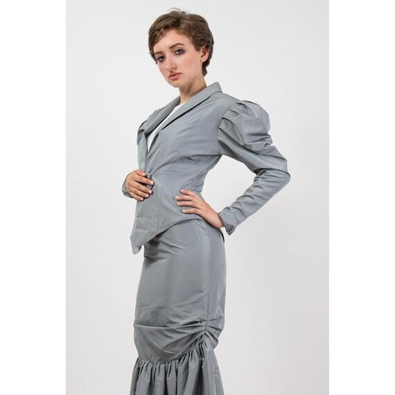 Vintage Norma Kamali / 1980s 2 piece skirted suit… - image 5