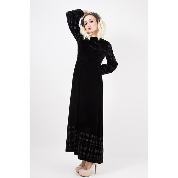 Vintage GIVENCHY / 1960s 1970s Maxi dress / Eveni… - image 4