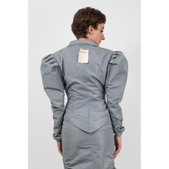 Vintage Norma Kamali / 1980s 2 piece skirted suit… - image 7