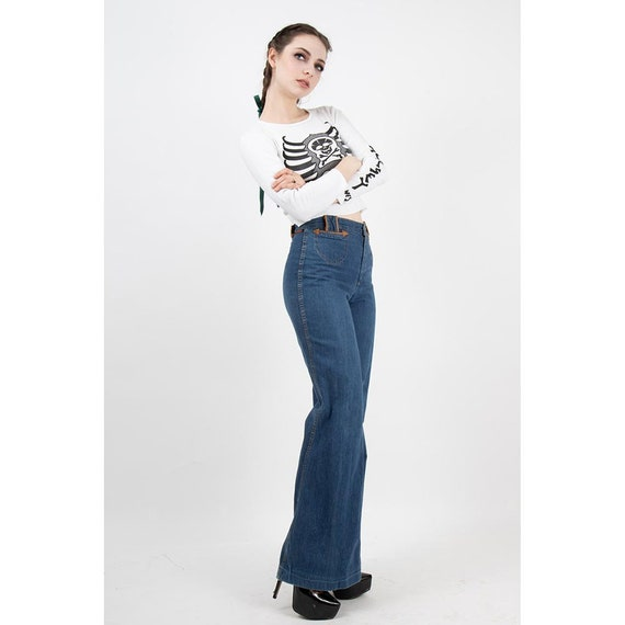 Vintage Landlubber jeans / 1970s high waist bell … - image 4