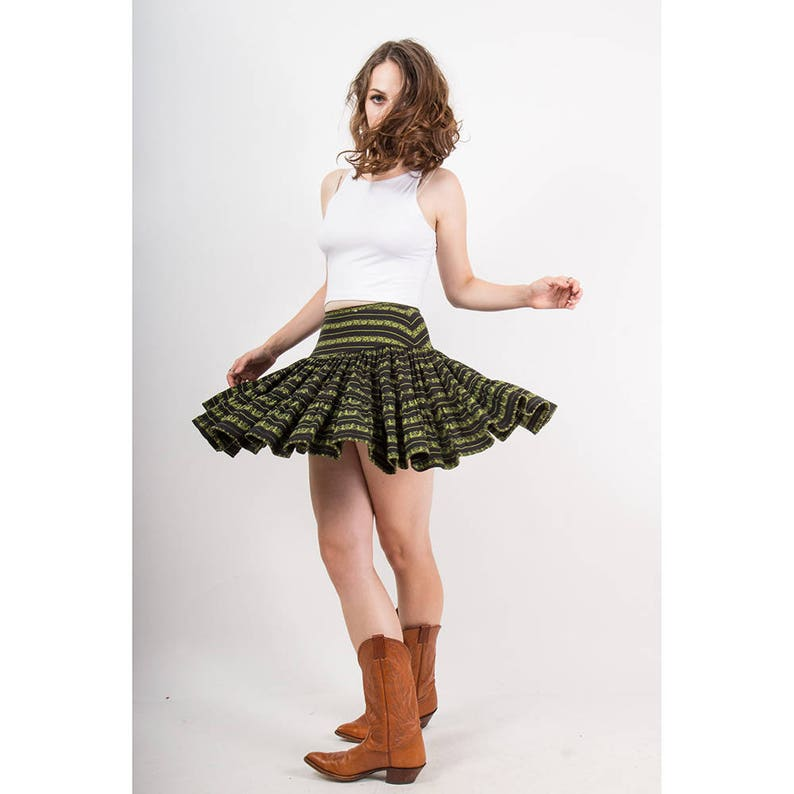 00e119077fb4 Vintage Betsey Johnson / 1980s punk label tiered mini skirt / | Etsy