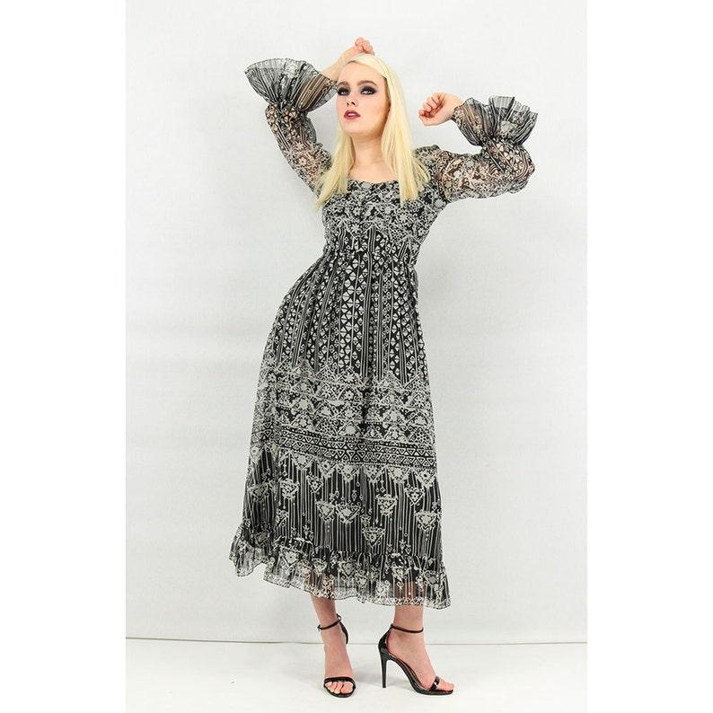 3a431e708b Vintage Oscar de la Renta Boutique gown / 1960s 1970s Black | Etsy
