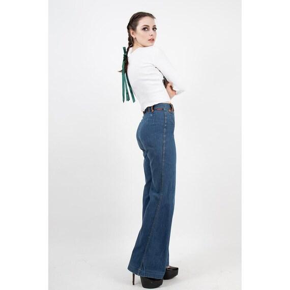 Vintage Landlubber jeans / 1970s high waist bell … - image 7