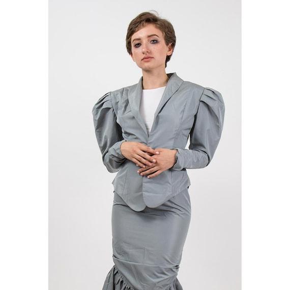 Vintage Norma Kamali / 1980s 2 piece skirted suit… - image 4