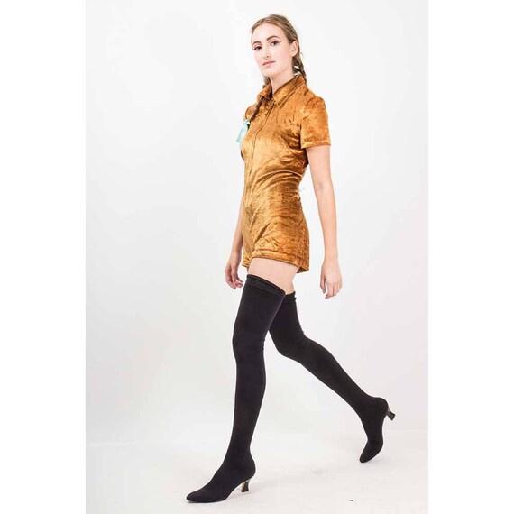 Vintage Anne Klein Couture thigh high boots / 1980