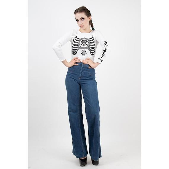 Vintage Landlubber jeans / 1970s high waist bell … - image 9