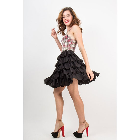 NORMA KAMALI / Vintage OMO iconic tiered ruffled R