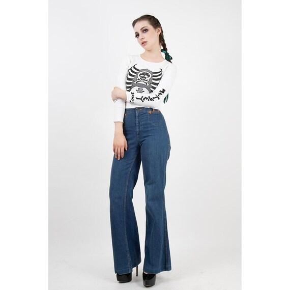 Vintage Landlubber jeans / 1970s high waist bell … - image 1