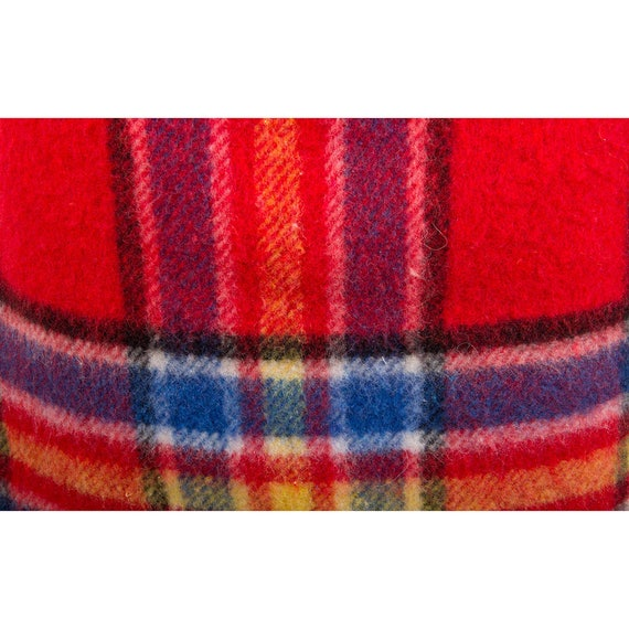 Vintage Ko and Co / 1980s plaid wool blanket frin… - image 7