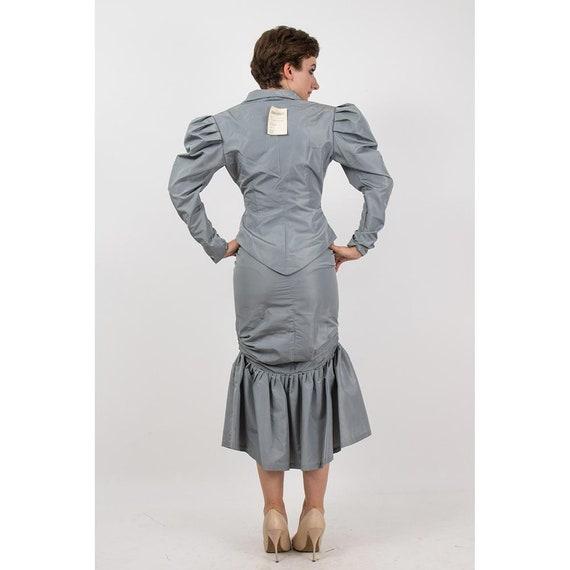 Vintage Norma Kamali / 1980s 2 piece skirted suit… - image 9