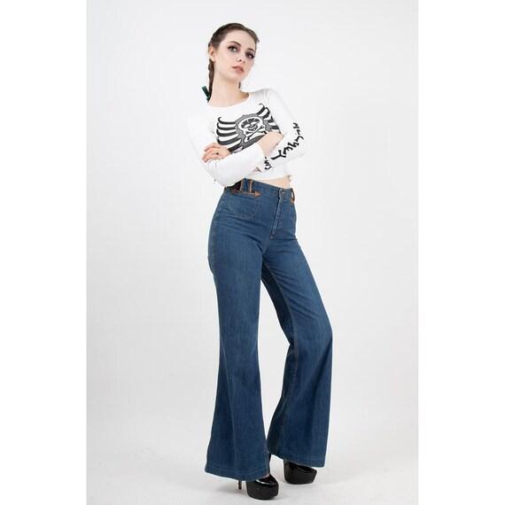 Vintage Landlubber jeans / 1970s high waist bell … - image 2
