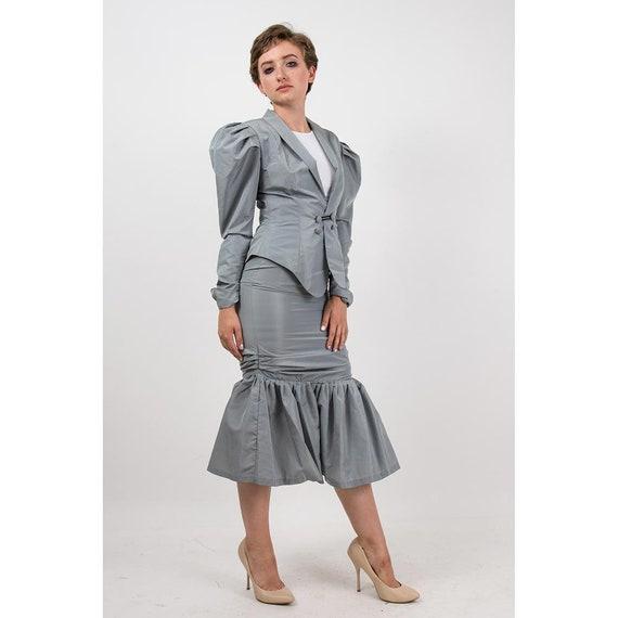 Vintage Norma Kamali / 1980s 2 piece skirted suit… - image 6