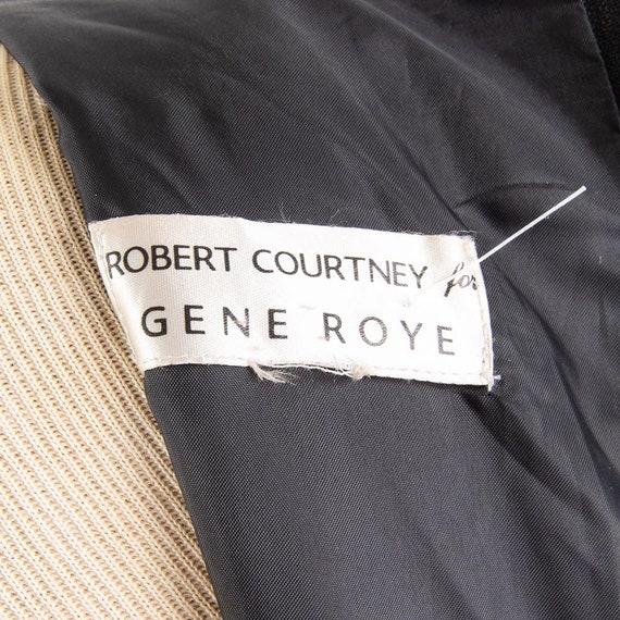Vintage puff statement sleeve dress / 1980s Rober… - image 10