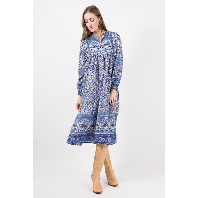d28085c4a Vintage India gauze dress   1970s sheer cotton gauze   Indian