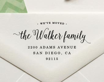 Personalized Custom Return Address Housewarming New House Home Sweet Home We/'ve Moved Return Address Rubber Stamp or Self Inking Stamper