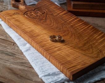 Personalized Cutting Board, Custom Breadboard, Couples Gift,  Serving Board, Custom Wedding Shower Gift