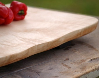 Large Serving Board - charcuterie board - cutting board - eco friendly kitchen - barbeque - natural wood