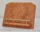 Half Baked Harvest x Etsy Cookbook Stand, Carved Recipe Stand for Tablet