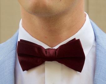 Men's Wine Bow Tie