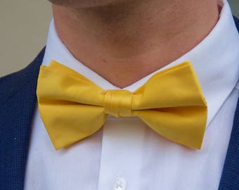 Men's Sunshine Yellow Bow Tie