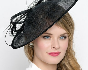 Black Fascinator Hat -