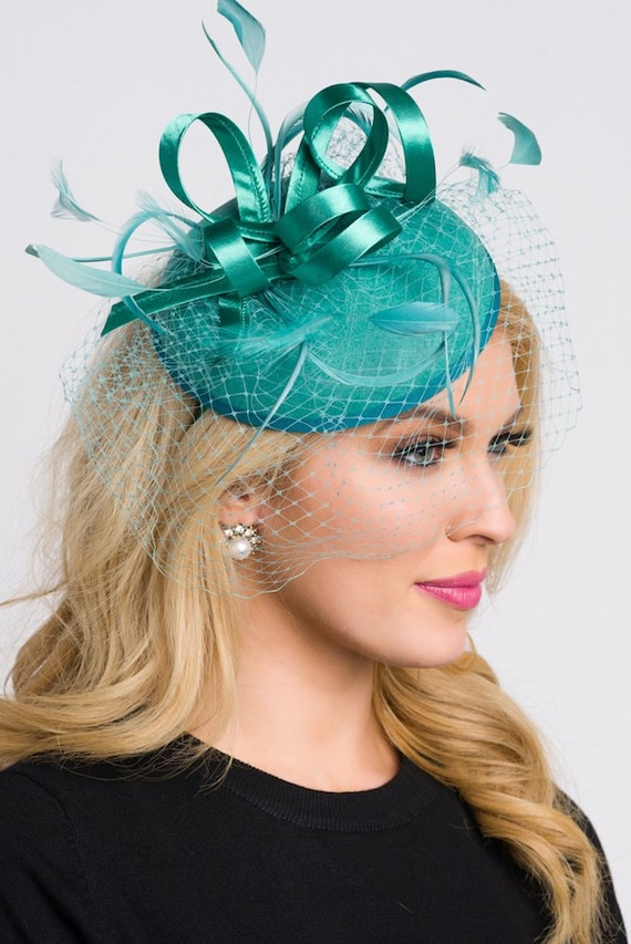 75a10f36 Emerald Green Fascinator Juliet Emerald Green   Etsy