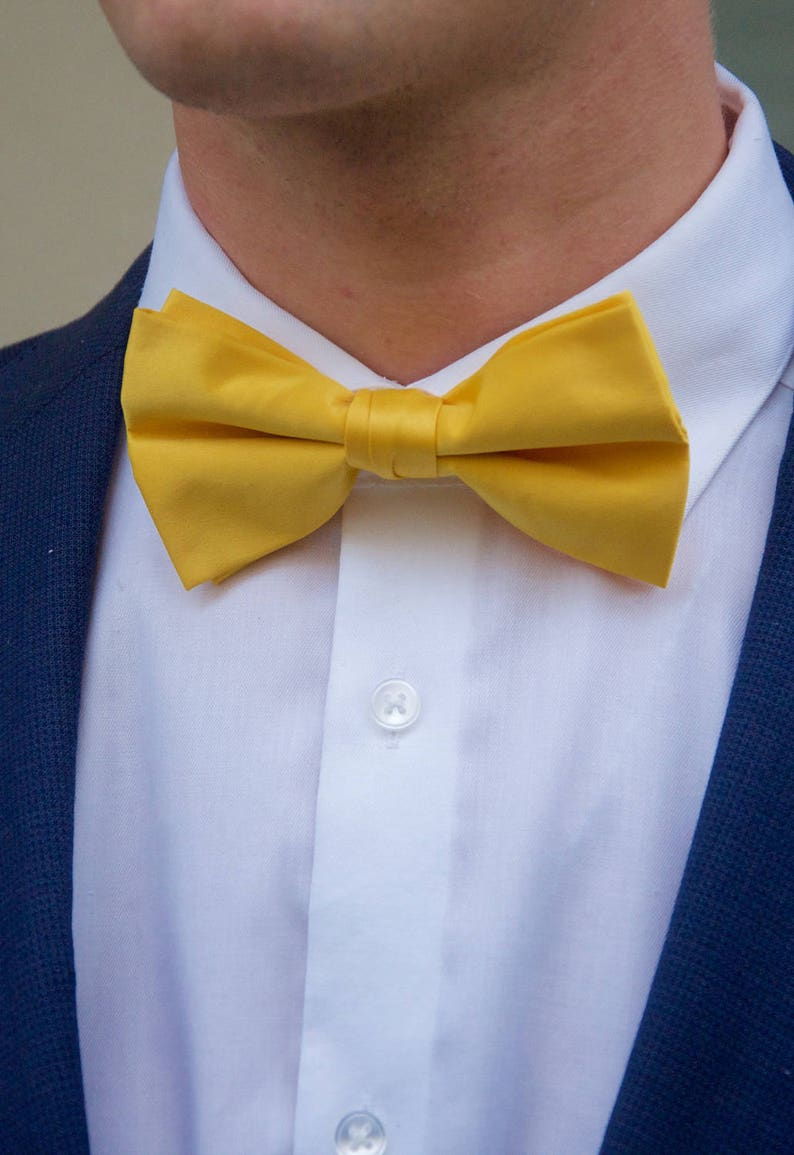 ea25ae547a24 Men's Sunshine Yellow Bow Tie | Etsy