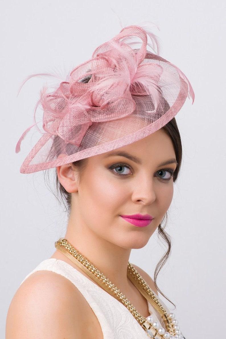 4b816a813551b Mauve Pink Fascinator Penny Mesh Hat Fascinator