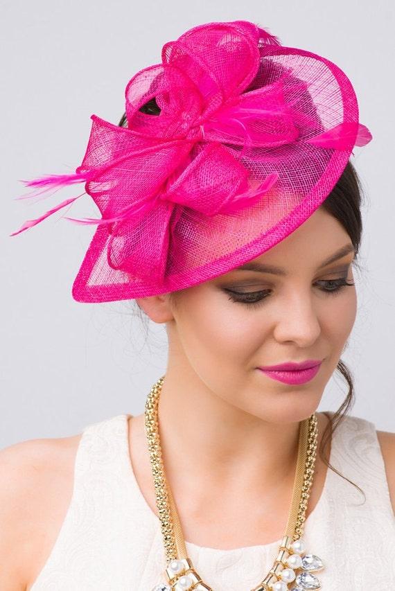 Fuchsia Fascinator Penny Mesh Hat Fascinator  c40fd4acbef