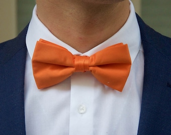 Men's Orange Bow Tie