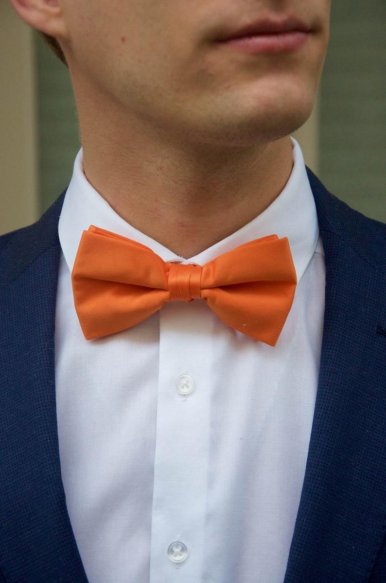 c059f15dd6cd Men's Orange Bow Tie   Etsy