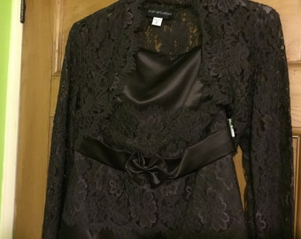 Vintage Brown full length Evening Dress, by Scott McClintock