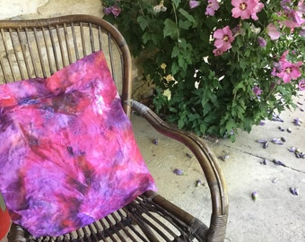 Art Embroidery,Purple & Magenta, thick  can be used as Table Linen , decorative  wall hanging Or sewn into a cushion cover