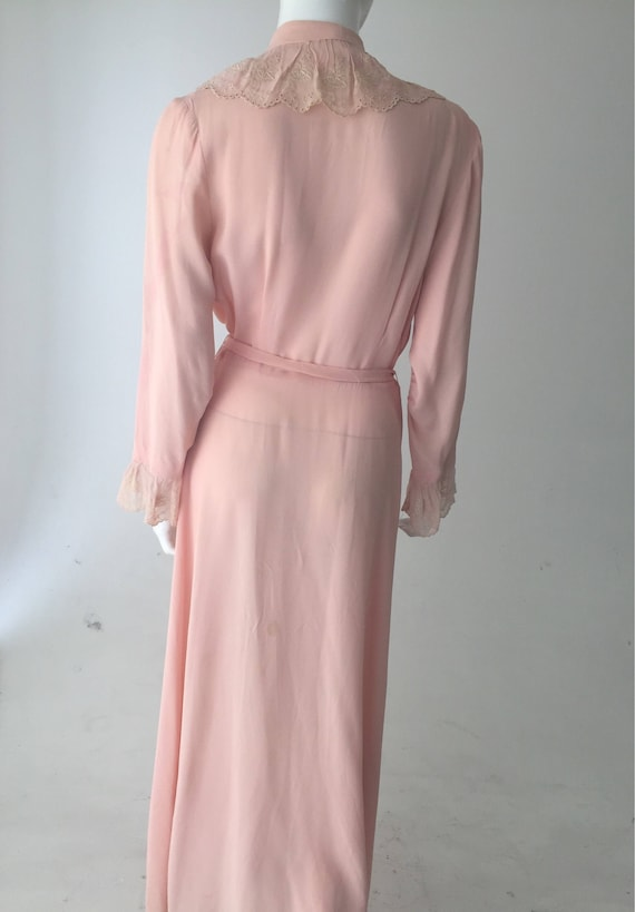 1940s Pink Dressing Gown Robe - image 2