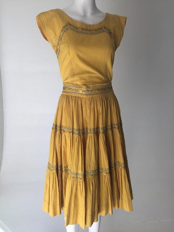 50s Sunny Yellow Patio Dress Set