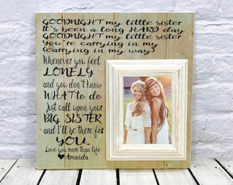 Maid of Honor gift, Sisters wedding gift,  Matron of Honor gift, Bridesmaid gift, Personalized Picture Frame 16x16