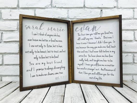 Framed wedding Vows Wedding Vows Framed Wedding Vow | Etsy