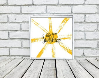 you are my sunshine Wall Art, nursery decor, sunshine birthday, my only sunshine, You are my sunshine sign, baby shower gift, wood sign