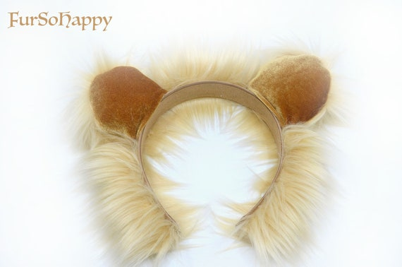 Camel Ears And Tail Set Cream Luxury Faux Fur Fun Unique Fancy Dress Items