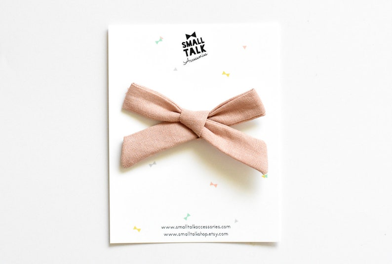 Tied Bow Newborn Bow Toddler Hair Bow Infant Headband Mini School Girl Bow Baby Headband Rose Pink Bow Toddler Hair Accessories