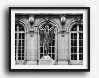 Paris Wall Art Photography Print, Black and White Fine Art Print,