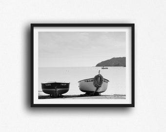 Nautical Prints, Cadaques Spain, Boat Prints, Spain Print Spain Photography Coastal Wall Art Cadaques Spain Travel Print Seascapes Wall Art